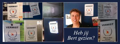 Waar is Bert? Een initiatief van Carla en Linda van der Wal, auteurs van het boek kantoorgeheimen